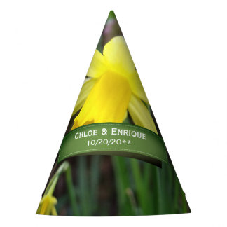 Soft Focus Daffodil Personalized Wedding Party Hat