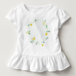 Soft Garland of Flowers Design Toddler T-Shirt