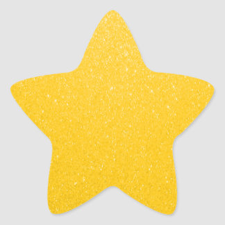 Soft Golden Yellow Faux Glitter Star Sticker