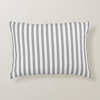 Soft Gray And White Stripes Pattern 2 Accent Cushion