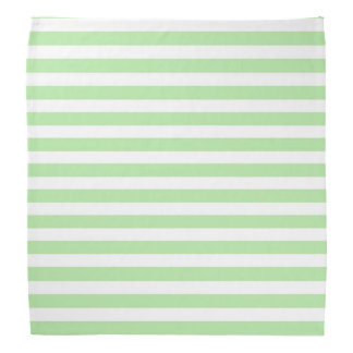 Soft Green and White Stripes Bandana