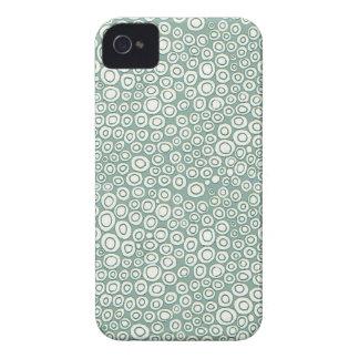Soft Green Circles Pattern Case-Mate iPhone 4 Case