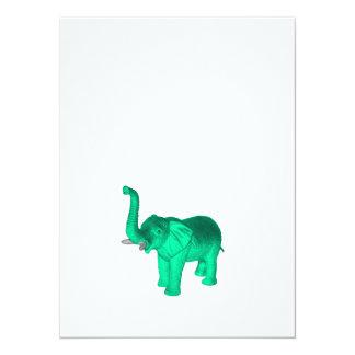 Soft Green Elephant Card