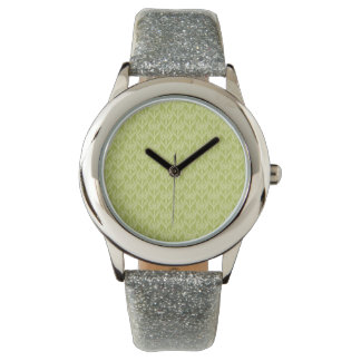 Soft Green Floral Watches