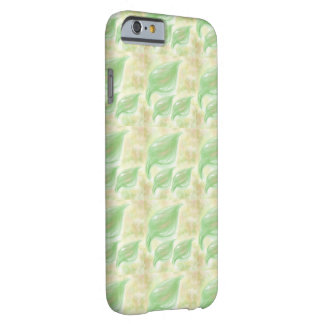 Soft green leafs small pattern on a phone case