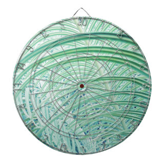 Soft Green Plant Palm Leaf Dartboard