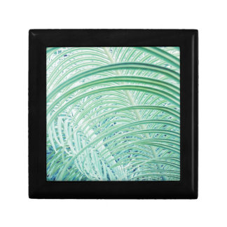 Soft Green Plant Palm Leaf Gift Box
