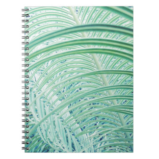 Soft Green Plant Palm Leaf Notebooks