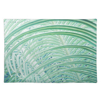 Soft Green Plant Palm Leaf Placemat