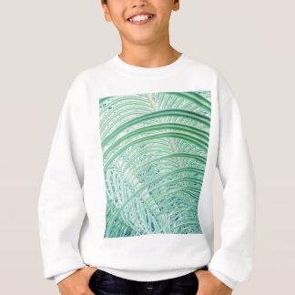 Soft Green Plant Palm Leaf Sweatshirt