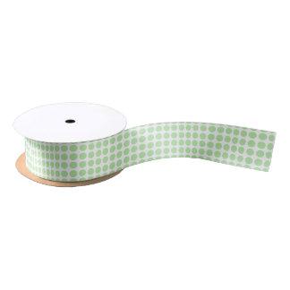 Soft Green Polka Dots Ribbon Satin Ribbon