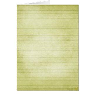Soft Green Stripes Card