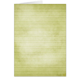 Soft Green Stripes Greeting Card