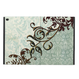 Soft green vintage art with floral elements powis iPad air 2 case