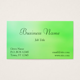 Soft Greens Business Card