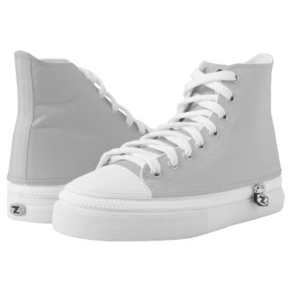 Soft Grey High Top Shoes  #CECECE