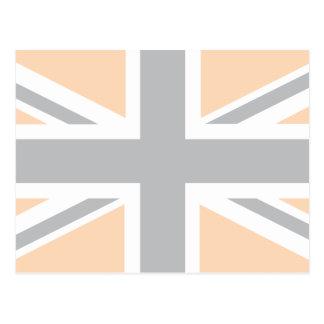 soft Grey Union Jack British UK Flag Post Card