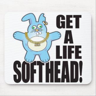 Soft Head Bad Bun Life Mouse Pad