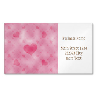 soft hearts A Magnetic Business Card