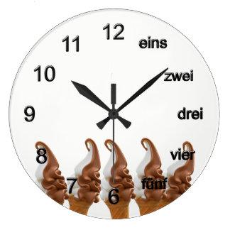 Soft ice wall clocks