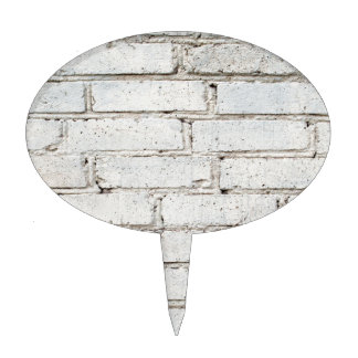 Soft image of a background of gray brick wall cake picks