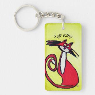Soft Kitty - Keychain