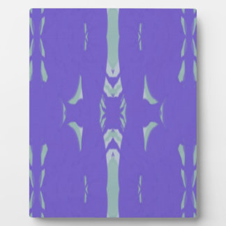 Soft Lavender Mint Green Artsy Pattern Plaque