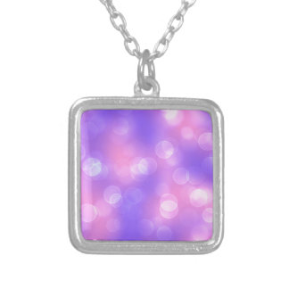 soft lights bokeh 1 silver plated necklace