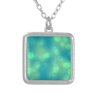 soft lights bokeh 1b silver plated necklace