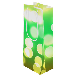 soft lights bokeh 3 wine gift bag
