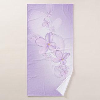 Soft Lilac Flowers Bath Towel