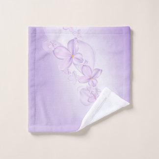 Soft Lilac Flowers Wash Cloth