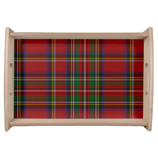Soft Looking Royal Stewart Tartan Serving Tray