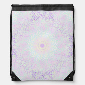 Soft Love Pastel Mandala (Big) Drawstring Bag