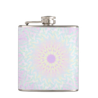 Soft Love Pastel Mandala (Big) Hip Flask