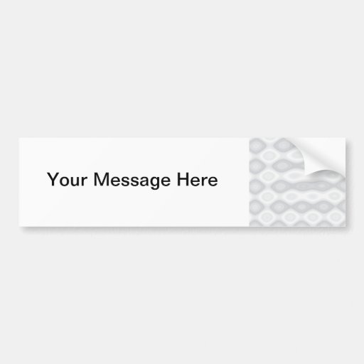 Soft Metallic Pattern in Silver Colors Bumper Sticker