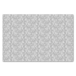 Soft Modern White&Grey Named Damask Tissue Paper
