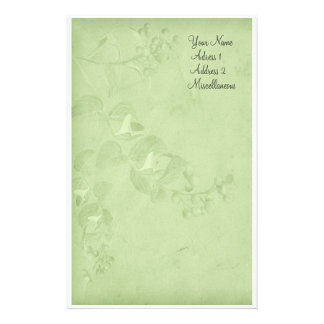 Soft Nature in Green Customized Stationery