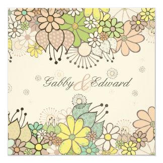 Soft Neutral Blooms Wedding Invitation Invite