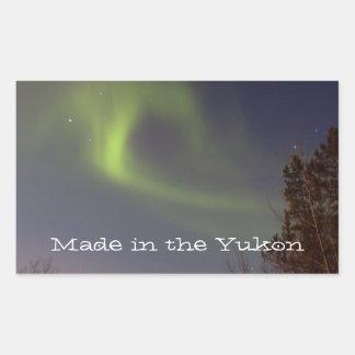 Soft Northern Lights; Yukon Territory Souvenir Rectangular Sticker