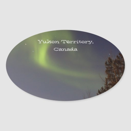 Soft Northern Lights; Yukon Territory Souvenir Stickers