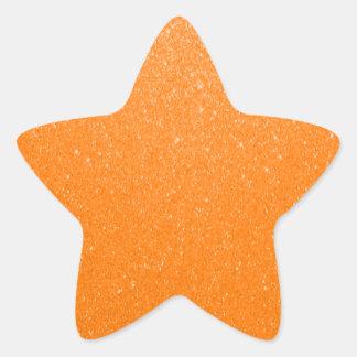 Soft Orange Glitter Star Sticker