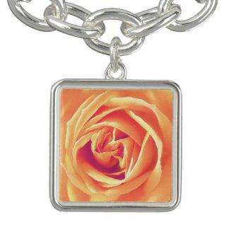 Soft orange rose print
