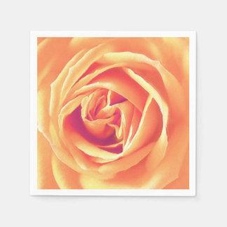 Soft orange rose print disposable napkins