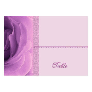 Soft Orchid Purple Rose Place Card - Wedding Party Business Card Template