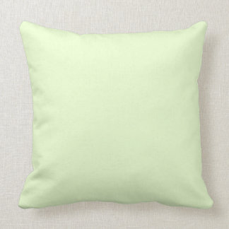 Soft Pale Celery Green Pastel for Summer Gazebo Throw Pillow