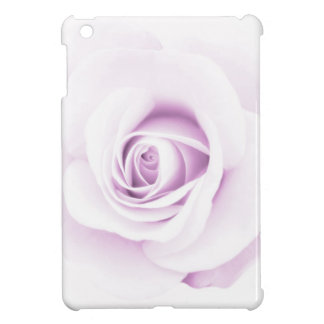 Soft, pale purple rose elegant floral case for the iPad mini