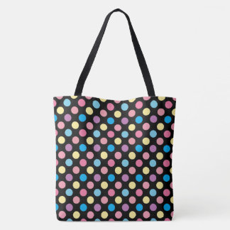 Soft Pastel Colors Polka Dots Pattern Tote Bag