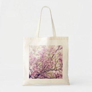 Soft Pastel Floral Branches Canvas Bags