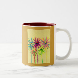 Soft Pastel Flowers For You Two-Tone Coffee Mug